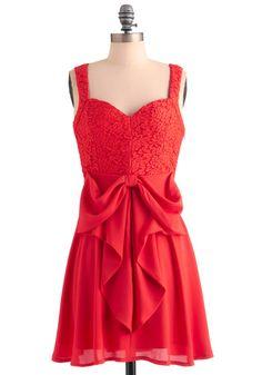 Vestido rojo de fiesta ModCloth