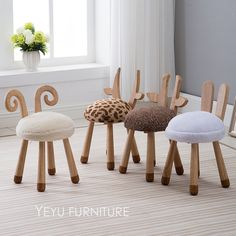 kids wooden chair on sale at reasonable prices, buy Modern Design Solid Wooden animal design Kids Baby Chair, cute lovely Child Kid Wood Chair, nice fashion design baby chair 1 PC from mobile site on Aliexpress Now! Playroom Furniture, Baby Furniture, Rustic Furniture, Cool Furniture, Children Furniture, Furniture Outlet, Office Furniture, Discount Furniture, Furniture Stores