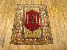 "Oushak & Turkish 6' 7"" x 4' 6"" Sivas at Persian Gallery New York - Antique Decorative Carpets & Period Tapestries"