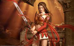 the Red Warrior by Soa Lee (Korean illustrator)