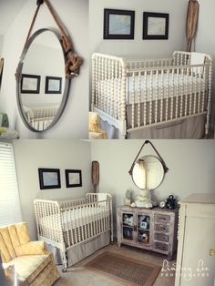 vintage with a little outdoorsman, white jenny lind crib