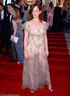 The Best Actress nominee donned a see-through frock which revealed her high-waisted nude knickers and bandeau bra as she walked the red carpet at the Olivier Awards. Karen Dotrice, Ruth Wilson, Bridget Jones, Style Finder, Bandeau Bra, Best Actress, Sheer Dress, Red Carpet Fashion, Frocks