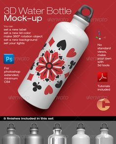 3d Object - Water Bottle Mock-up - GraphicRiver Item for Sale