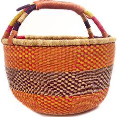 African Market Basket - Ghana Bolga - 15 Inches Across - #48147