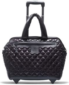 Chanel Black Quilted Trolley   I need this!!!