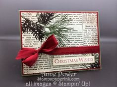 Stamps, Paper, Ink Create!: Card Six Very Merry Stamp Camp Ornamental Pine