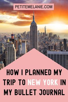 New York: Traveling Bullet Journal, Vol. Here's how I planned out my trip to New York City in my Bullet Journal. Going on a trip soon? Ready to plan your vacation? Check out these useful travel collections for your Bullet Journal! Bullet Journal Travel, Bullet Journal Hacks, Bullet Journal Layout, Bullet Journal Inspiration, Journal Ideas, Places To Travel, Places To Visit, City Journal, Plan My Trip