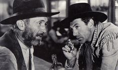 """WALTER BRENNAN (left) with Gary Cooper in """"The Westerner."""" In this film Brennan played the corrupt Judge Roy Bean with a soft spot for actress Lily Langtry. For his portrayal of """"the Judge,"""" Brennan won his third Best Supporting Actor Award in Gary Cooper, Best Supporting Actor, The Villain, Dream Guy, Best Actor, Actors & Actresses, North West, Grande, Westerns"""