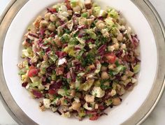 Recipe for: Protein-Packed Chopped Salad.This summery salad packs a punch, and is great for a healthy lunch or dinner.