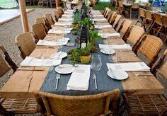 Beautiful rustic table setting