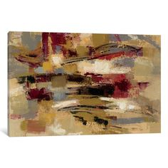 """East Urban Home Ruins Painting Print on Wrapped Canvas Size: 40"""" H x 60"""" W x 1.5"""" D"""