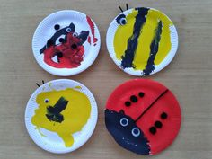 7 creative paper plate crafts featured as part of the weekly Tuesday Tutorials linky Eyfs Activities, Animal Activities, Indoor Activities For Kids, Kids Learning Activities, Classroom Activities, Farm Crafts, Bug Crafts, Preschool Crafts, Preschool Ideas