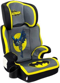 Kidsembrace Dc Comics Batman High Back Booster Car Seat By Contoured Design