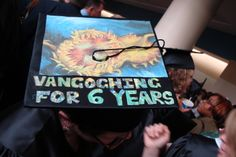 "This Lourdes University art grad was ""vangoghing it"" on graduation day!"