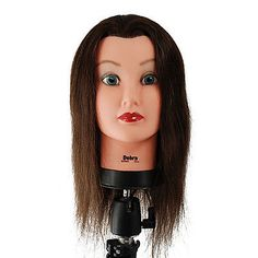 Hair and Makeup Mannequins: New Celebrity D804 - 21 Cosmetology Mannequin Head 100% Human Hair - Debra BUY IT NOW ONLY: $43.99
