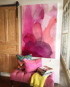 16 Mesmerizing Interior Painting Bright Ideas 10 Seductive Tips And Tricks Interior Painting Palette Design Seeds Interior Painting Techniques Life Interior Painting Schemes Floor Plans Interior Painting Techniques Benjamin Moore Interior Painting Colors Painting Inspiration, Art Inspo, Modern Art, Contemporary Art, Abstract Watercolor, Pink Abstract, Painting Abstract, Abstract Painting Techniques, Pink Watercolor