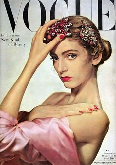 Vintage Vogue 1947 with a young CARMEN on the cover