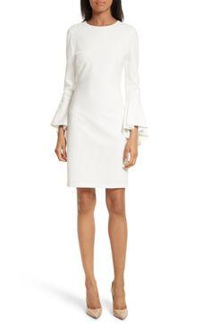 Alice + Olivia Alice + Olivia Dora Bell Sleeve Shift Dress available at #Nordstrom