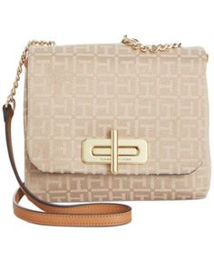 954f95f49 Tommy Hilfiger Abby Monogram Jacquard Small Flap Crossbody & Reviews -  Handbags & Accessories - Macy's