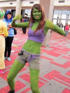 nude she hulk body paint