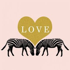 Zebra Love print by Parima Studio
