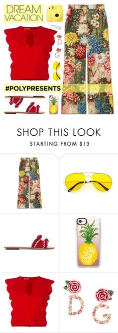 """""""Win It! #PolyPresents: Dream Vacation"""" by lgb321 on Polyvore featuring Gucci, Loeffler Randall, Casetify, Giambattista Valli, Dolce&Gabbana, Forever 21, contestentry, polyvoreeditorial, polyPresents and dreamvacation"""