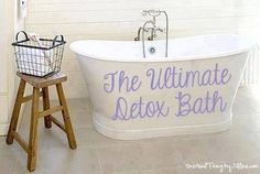 Gettin' Our Skinny On!: DETOX BATH!!!!