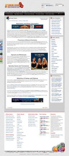 Europa Casino @ 1onlinecasino.com