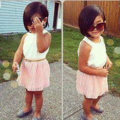 Kid's Fashion! Simple and chic summer outfit!
