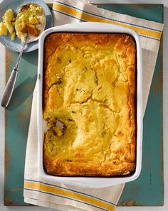 Gooey Corn Spoon Bread #sweetsurprisesweeps
