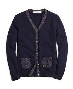 Brooks Brothers Girl's Cashmere Cardigan
