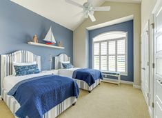 coastal twin bedroom | Echelon Interiors