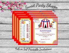 Invitación circo circo cumpleaños invitación por SKSStationary