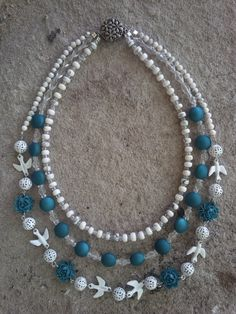 Triple strand necklace!