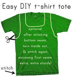 Hello, ReFabulous!: Easy DIY t-shirt tote