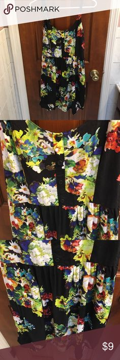 NWOT Xhiliration Sun Dress M Cute black and floral sun dress. Mint condition. Xhilaration Dresses Mini