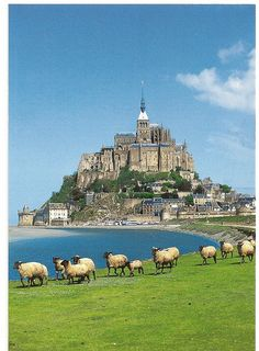 Mont Saint Michel, Normandy, France . The Abbey was founded in 708.
