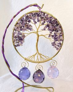 Wire Tree Sculpture Tree of Life Suncatcher Wire by BellaDivaBeads