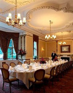 Private dining function at Tylney Hall Hotel