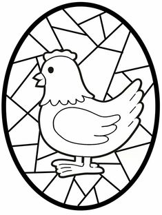 Easter Egg Coloring Pages, Coloring Book Pages, Coloring Sheets, Art Auction Projects, Lapin Art, Chicken Crafts, Easter Story, Digital Stamps, Spring Crafts