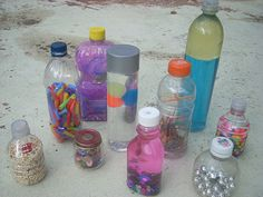 Post-Apocalyptic Homeschool: Sensory and Discovery Bottles for Toddlers and Preschoolers - Recycling Craft Project