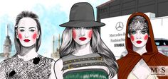 #Mercedes-Benz Fashion Week  FASHION x ART:  Illustrations created exclusively for #MBFWI by local fashion illustrator #Mustafa Soydan.