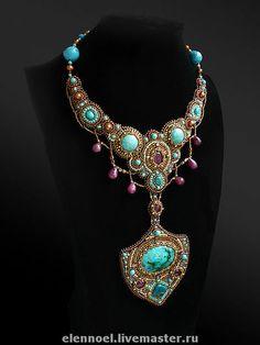 """Колье, бусы ручной работы. Ярмарка Мастеров - ручная работа Колье с рубинами """"Тайна персидской принцессы"""". Handmade."""