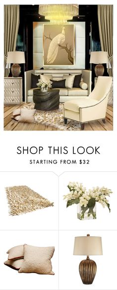 """White Prosperity Peacock-Contest ~ Living #111"" by irafra ❤ liked on Polyvore featuring interior, interiors, interior design, дом, home decor, interior decorating, Ethan Allen, Twill Textiles и Chandelier"