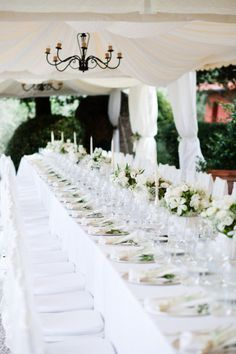 White-on-white reception setup