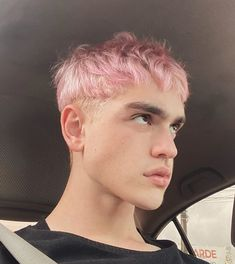 Pink Hair Guy, Pastel Pink Hair, Guys With Pink Hair, Boys Dyed Hair, Dye My Hair, Mens Hair Dye, Short Hair For Boys, Short Punk Hair, Boy Haircuts Short