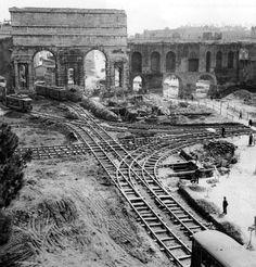 Foto storiche di Roma - Ristrutturazione dello snodo tranviario di Porta Maggiore Anno: 1956