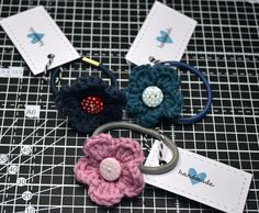 crochet hair accessories...