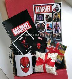 Spider Man Box by Handcraft Store spiderman spider Gift Box For Men, Diy Gifts For Men, Cute Gifts, Men Gifts, Diy Gift Baskets, Christmas Gift Baskets, Christmas Gifts, Best Boyfriend Gifts, Presents For Boyfriend