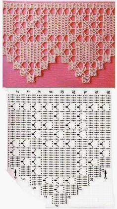 How to Crochet Wave Fan Edging Border Stitch - Crochet Ideas - sabana filet crochet edging pattern - Crochet Edging Patterns, Crochet Lace Edging, Crochet Motifs, Crochet Borders, Crochet Diagram, Crochet Chart, Lace Patterns, Crochet Designs, Crochet Doilies